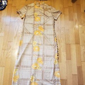 Leslie Fay Vintage Plaid Button Dress